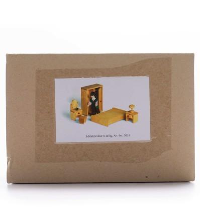 Puppenhaus Holzmöbel - Schlafzimmer