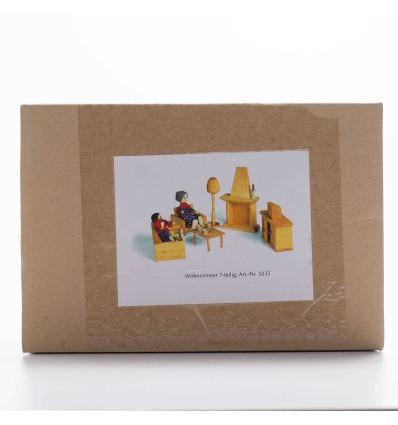 Puppenhaus Holzmöbel - Wohnzimmer