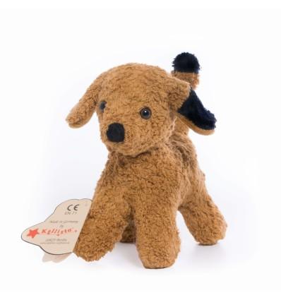 Kallisto Stofftier Hund braun KbA-Öko Spielzeug-Naturspielzeug