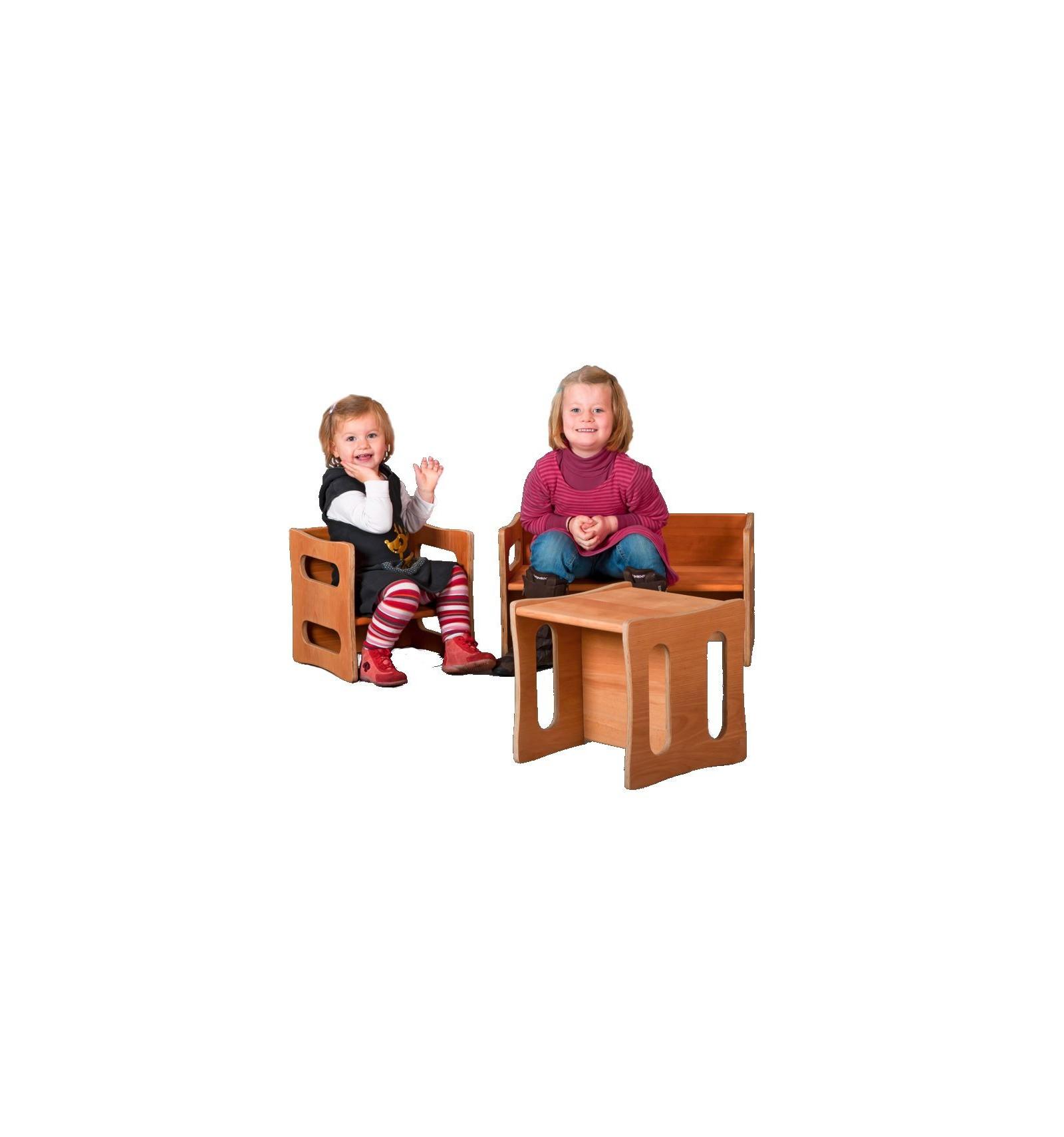 Kinderstuhl aus Buche - mitwachsend