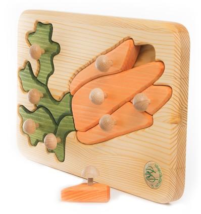 Massivholz Puzzle – Möhren