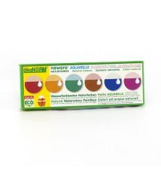 Wasserfarben - 6 Oster Eierfarben mit Pinsel | ökoNorm