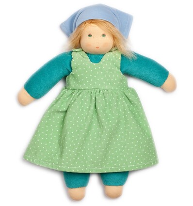 Nanchen Sommerkind Lotti rosa rotes Kleid-Öko Spielzeug-Naturspielzeug