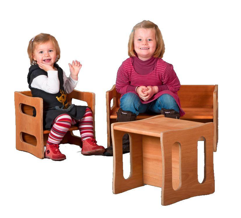 kinderbank kinderm bel aus buche drei sitzh hen verneuer. Black Bedroom Furniture Sets. Home Design Ideas
